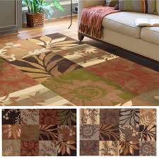 Green And Brown Area Rugs Hand Tufted Solano Transitional Floral Area Rug 9 U0027 X 12 U0027 By Remi