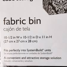 System Build 6 Cube Storage by Amazon Com System Build Cube Storage Fabric Drawer Damask Pattern