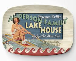personalized serving platters lake house platter personalized lake home serving platter