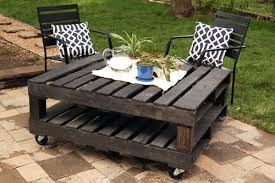 outside table with pallets making outdoor furniture with pallets