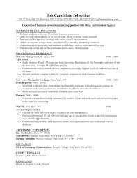 collection of solutions examples of business resumes with format