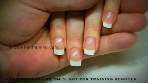 acrylic nails a realistic looking french infill youtube