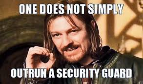 Security Guard Meme - the curious case of the security guard