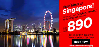 airasia singapore promo thailand airlines online booking and promotions september 2016