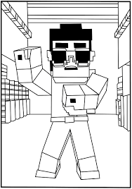 minecraf coloring pages enderman block coloring