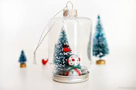 bottle brush tree mason jar ornaments as the bunny hops