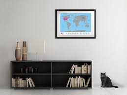How To Hang Art On Wall by How And Where To Hang The Scratchmap In The House