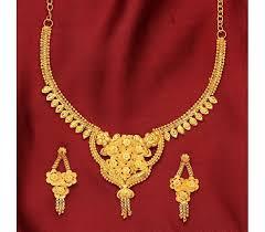 golden necklace women images Latest designing golden necklace set for women nlset0650 sree hari jpg