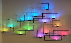 led design wall decor with led lights modern interior design ideas to