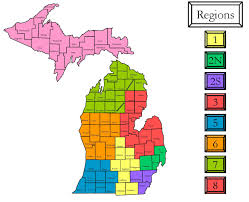 Road Map Of Michigan State Of Michigan Health Assessment Michigan Association For