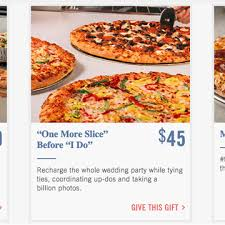 where to do wedding registry domino s pizza launches a wedding registry nbc news