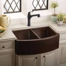 Hammered Copper Farmhouse Sink  Double Bowl Elkay - Hammered kitchen sink
