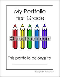 math portfolio cover page