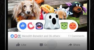 facebook adds halloween reaction buttons and spooky live video masks