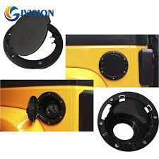 gas cap light jeep black abs aluminum fuel filler door cover gas tank cap for jeep