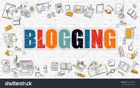 Conceptmodern Blogging Concept Modern Line Style Illustration Stock Illustration