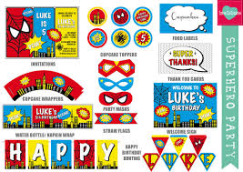 superhero party printable leo loves invitations