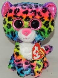 ty beanie boos buddy dotty leopard 24cm ebay