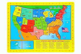 wooden usa map puzzle with states and capitals world 706 usa states capitals 10 wooden puzzle ebay