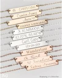 Name Engraved Necklace Amazing Deal On Custom Name Bar Necklace Personalized Necklace
