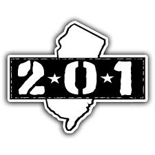 area code 201 bumper sticker u2013 true jersey