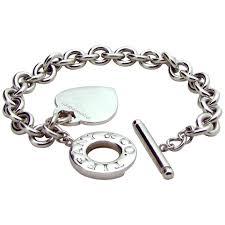 tiffany heart bracelet sterling silver images Authentic tiffany co sterling silver toggle heart charm jpg