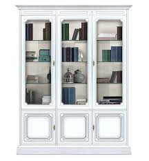 Modern White Bookcases Oak Bookcases With Glass Doors Foter Antique White Bookcase Modern