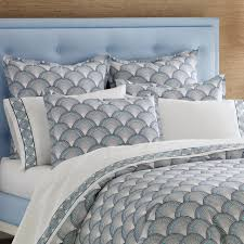 jonathan adler bedding fishscales navy king duvet cover final