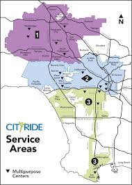 Los Angeles Airport Map by Cityride Ladot Transit Services