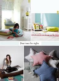 coussin chambre fille des coussins de sol pour une chambre d enfant