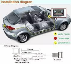 night vision waterproof rear view reversing parking car license