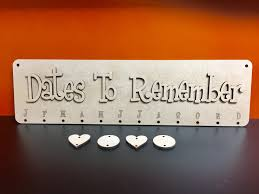 birthday board mdf dates to remember birthday board with 25 x hearts or circles