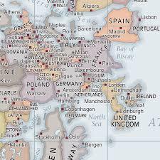 Classic Maps Upside Down World Classic Laminated Wall Map Hema Maps