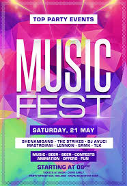 download the music festival party free flyer template