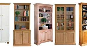 Modern Bookcases With Doors Wood Bookcases With Doors Astounding Large Black Bookcase Wood