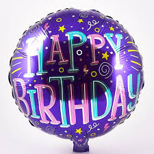 birthday helium balloons happy birthday purple foil helium balloon card factory