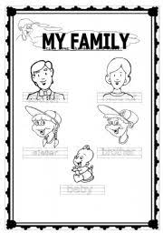 14 best images of worksheets about family my family preschool
