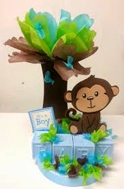 baby shower monkey centerpieces buscar con baby shower