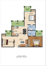 Garden Floor Plan by Ajnara Le Garden Floor Plan 1195 Sqft