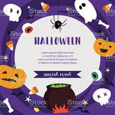 halloween poster template for special event advertisement vector