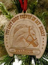 hand made custom laser engraved wood pet photo christmas ornaments