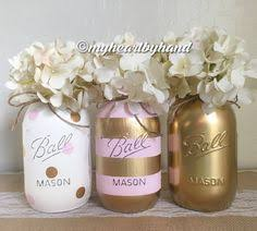 jar centerpieces for baby shower pint and gold baby shower jar set ombre jars baby
