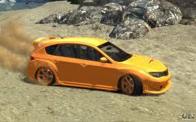orange subaru wrx subaru impreza wrx sti hatchback 2008 v 2 0 for gta 4
