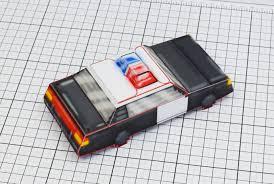 pixel car pixel police car u2013 fold up toys