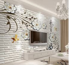 modern simple three dimensional flowers brick wall tv wall mural modern simple three dimensional flowers brick wall tv wall mural 3d wallpaper 3d wall papers
