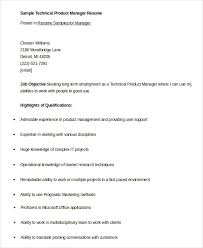 Hostess Resume Example by Product Manager Resume 5 Free Word Pdf Documents Download