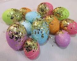 glitter easter egg ornaments easter egg ornaments set of 12 pastel sequin glitter mini eggs
