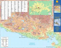 Map Of Canada With Cities by El Salvador Maps Maps Of El Salvador