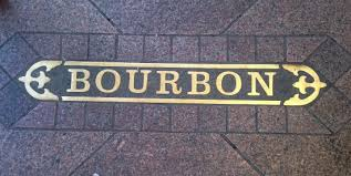 bourbon sign sign in the sidewalk picture of bourbon new