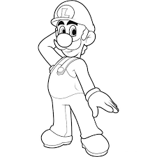 luigi coloring pages print 100 images mario bowser coloring